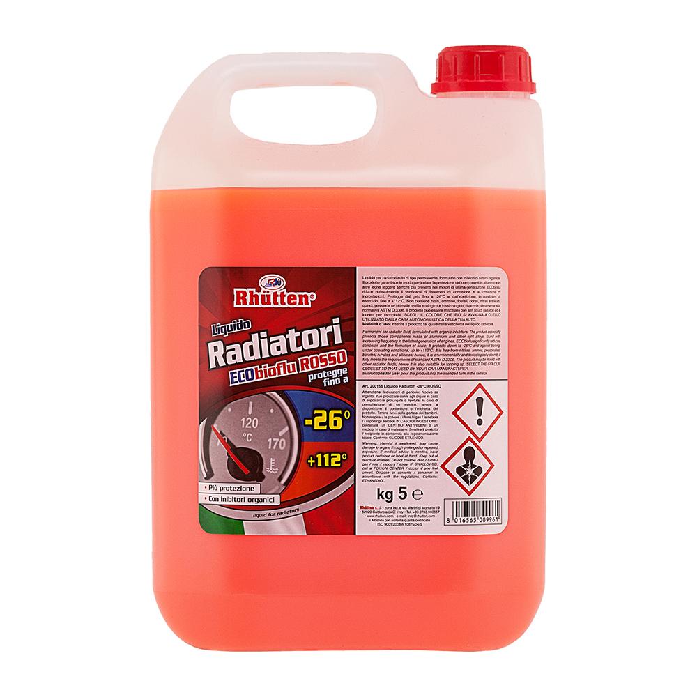 LIQUIDO RADIATORI ROSSO -26°C 5kg