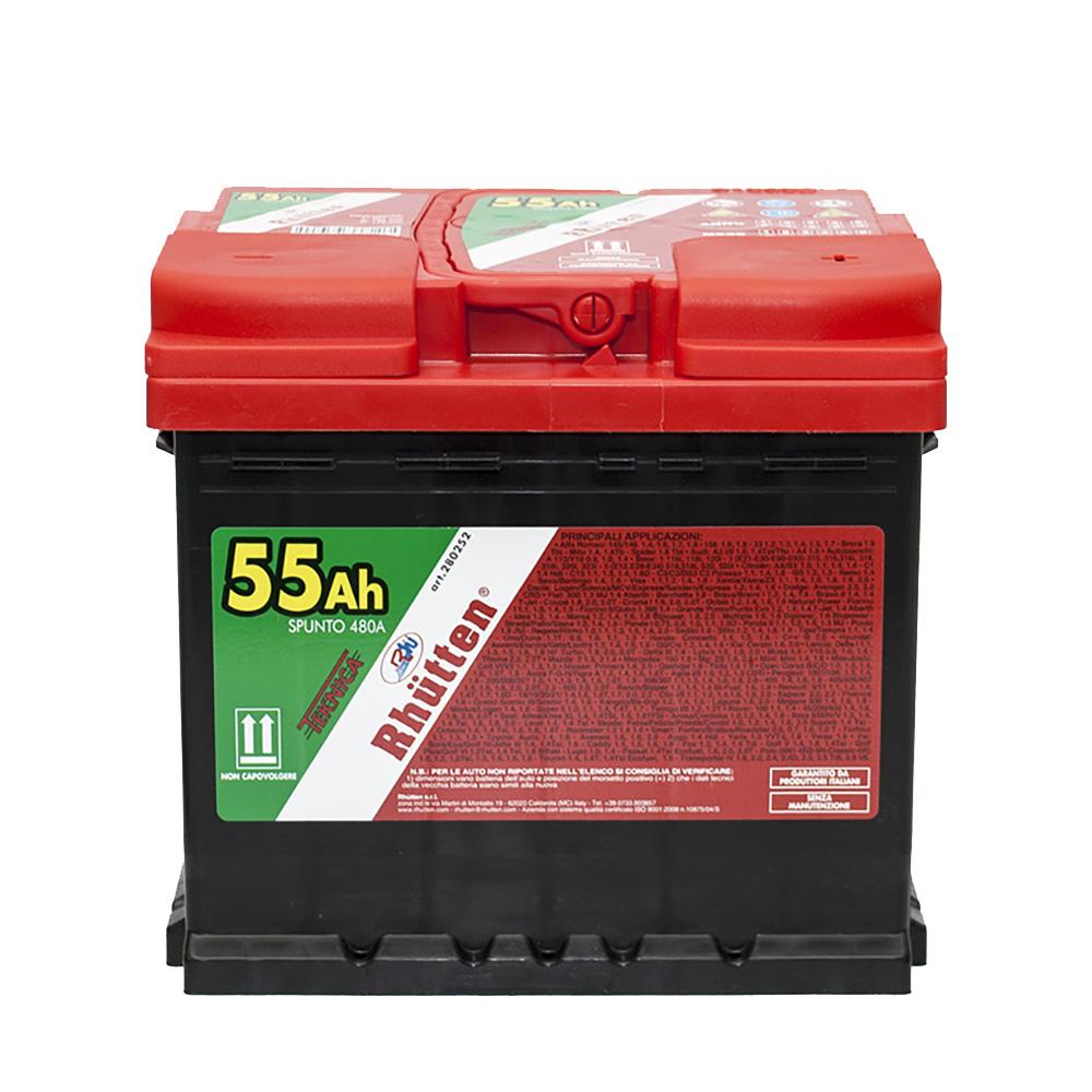 Batteria auto teknica 55ah 480a rhutten prodotti per per auto moto casa e faidate - Batteria per casa ...